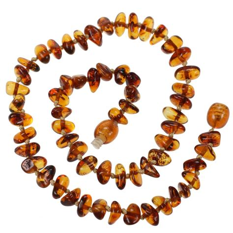 Baltic Amber Teething Necklace For Baby Cognac Beads
