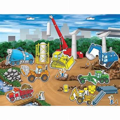 Construction Scene Site Magnetic Create Playmonster Scenes
