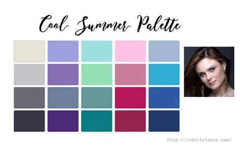 cool summer color palette cool summer palette true summer cool light infinite