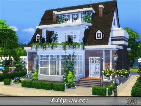 Sims 4 House Design Ideas :  Lily House By Danuta720 • Sims 4