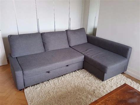 Corner Sofa Beds Ikea by Ikea Corner Sofa Bed With Storage Friheten In Grey Fabric