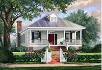 cottage house designs Southern Cottage House Plan with Metal Roof - 32623WP ...