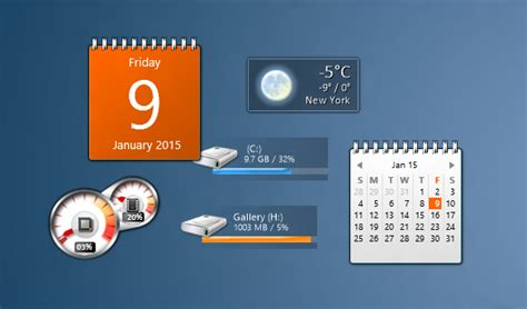 horloge bureau windows desktop gadgets for windows 10