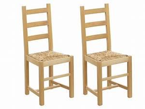 Chaise En Pin : lot de chaises farmer h tre massif paille de riz ~ Teatrodelosmanantiales.com Idées de Décoration