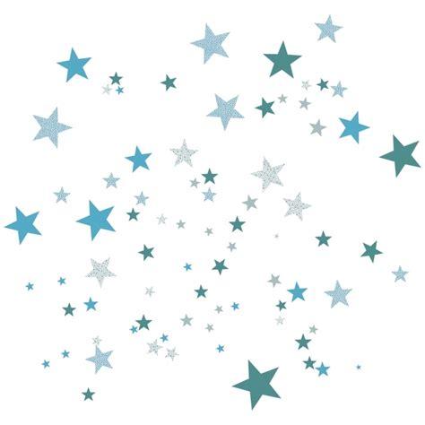 chambre bebe couleur sticker mural étoiles bleues