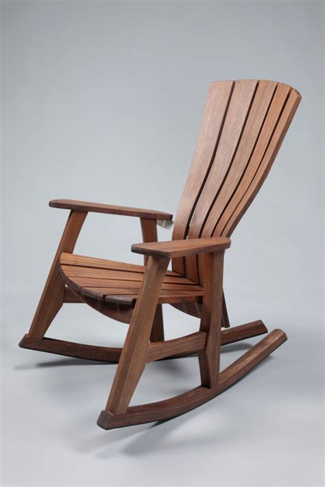 wooden rocking chair reminiscent of the past in the