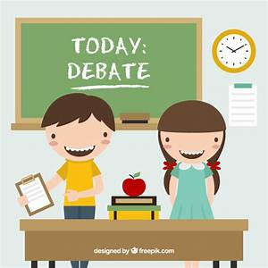 Student classroom debate clipart collection