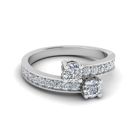 pave fancy ring in 14k white gold fascinating diamonds