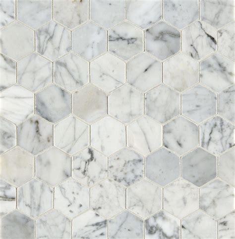 Carrara Marmor Fliesen by Carrara Honed Hexagon Marble Mosaic Tile Mandarin