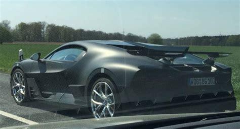 Bugatti divo, meet the world! Bugatti Divo Spotted Testing (Again), Looks Great In Matte Black   Carscoops