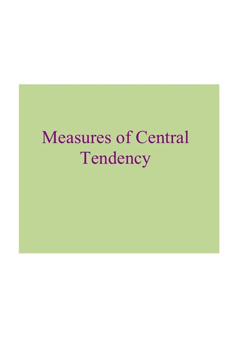 Cons30 S Data Analysis Measures Of Central Tendency