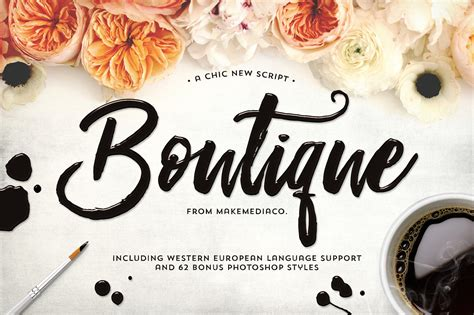 boutique script psd styles script fonts creative market
