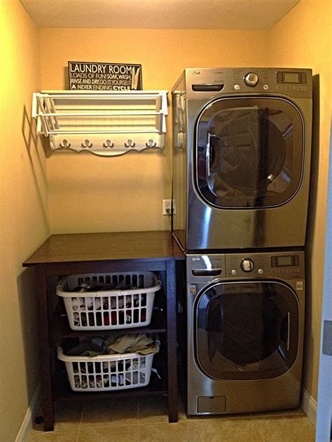 wire shelf washer and dryer best 25 stacked washer dryer ideas on wash
