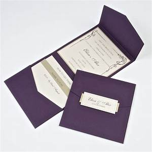 handmade wedding invites stationery cards cheap With plain pocket wedding invitations