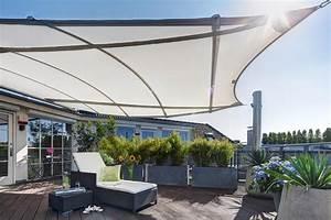 trapez4sun high end sonnensegel auf dachterrasse With französischer balkon mit sonnenschirm elektrisch