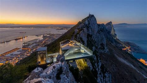 terrazza panoramica la terrazza panoramica costruita sulla rocca di gibilterra