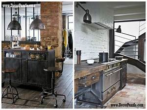 Inustrial style kitchen decor and furniture - Top secrets