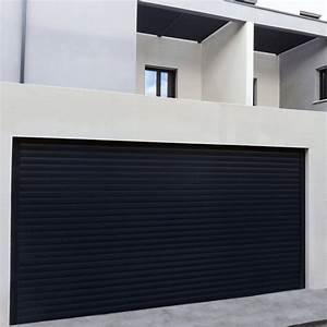 porte de garage en aluminium sur mesure motorisee enroulable With porte de garage enroulable avec porte fenetre pvc renovation