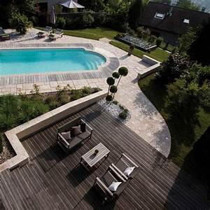 abord piscine bois et autres materiaux photos d With margelle piscine grise anthracite 2 margelle piscine grise margelle droite plate cm gris