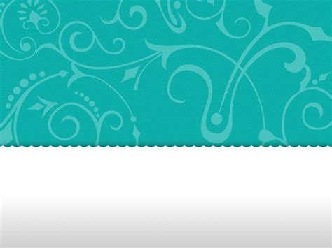 turquoise template vintage floral turquoise background powerpoint template