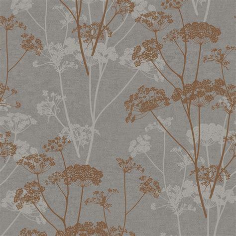 gold ophelia copper organic glitter effect wallpaper