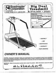 Roadmaster Treadmill Parts