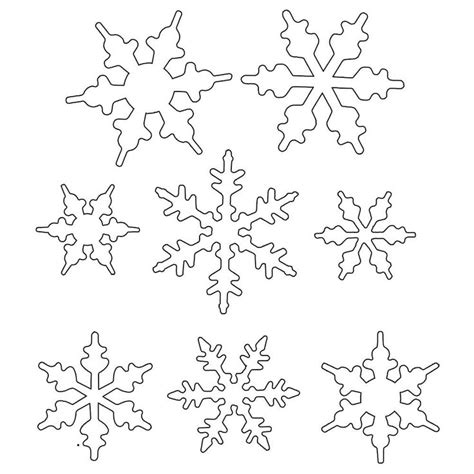 Snowflake Template The 25 Best Snowflake Template Ideas On Paper
