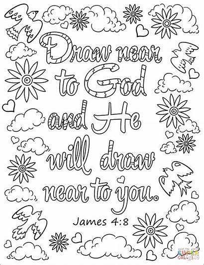 Coloring God Draw Near Adult He Bible