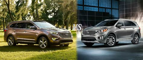 Kia Sorento Vs Hyundai Santa Fe Carcomng