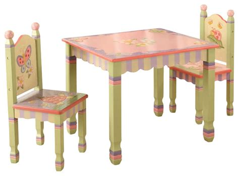 teamson magic garden painted table and