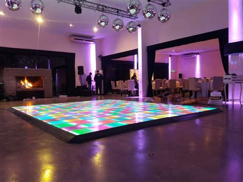 led dance floor standard size  dj julio rosario