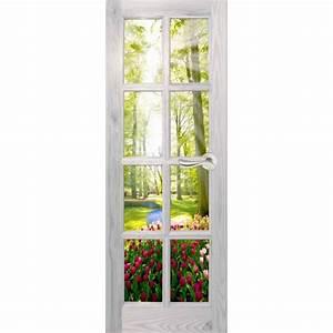 Deco Porte Interieure En Trompe L Oeil : sticker porte trompe l 39 oeil sous bois ~ Carolinahurricanesstore.com Idées de Décoration