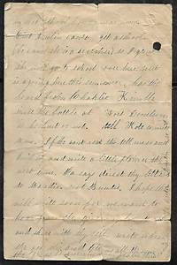 unknown civil war letter dated march 1862 re the With civil war letters for sale