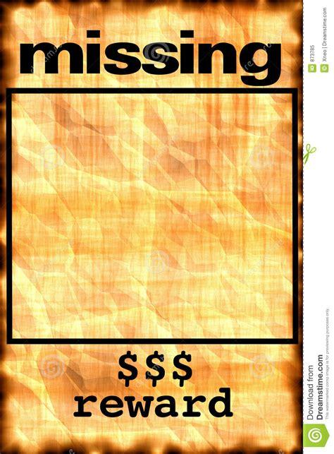 missing poster stock illustration illustration  notice
