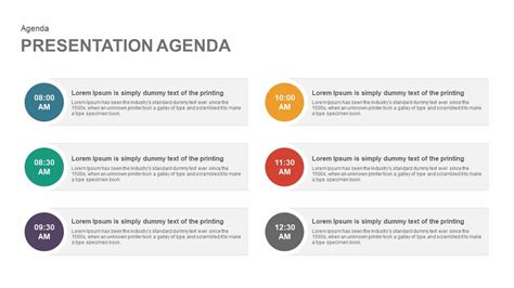 agenda template  powerpoint  keynote