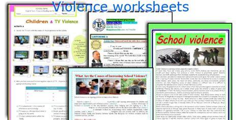 violence worksheets