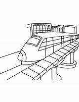 Metro Tram Coloring Pages Printable Delhi Station Mts Paper sketch template