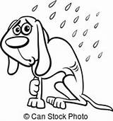 Dog Clipart Cartoon Homeless Coloring Vector Wet Clip Illustration Drawings Emaciated Rain Eps Poor Clipartmag Canstockphoto Fotosearch sketch template