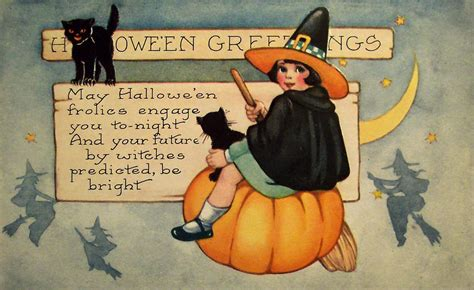 printable vintage halloween postcards festival
