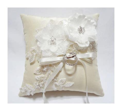 wedding ring pillow ring bearer pillow ivory ring pillow