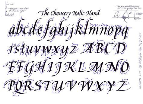 italic alphabet ludwig tan http my calligraphy blog blogspot com caligrafia