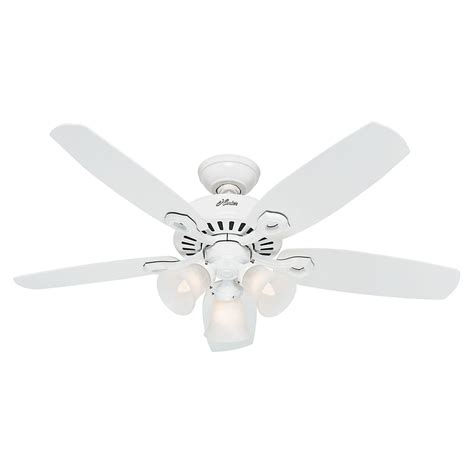small white ceiling fan with light hunter fan company builder small room snow white ceiling