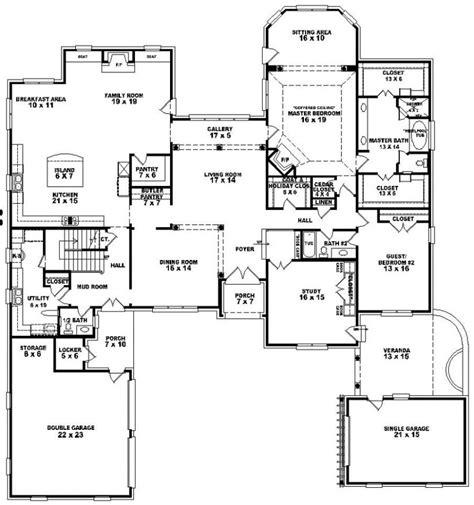 5 bedroom house plan 654276 4 bedroom 4 5 bath house plan house plans