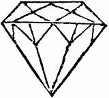Coloring Diamond Ring Diamonds Printable Drawing Clipart sketch template
