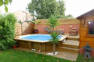 Piscine Semi Enterré Bois : piscine bois octogonale allong e semi enterr e toulon var ~ Premium-room.com Idées de Décoration