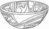 Coloring Pottery Pages Printable Casas Mexican Pueblo Pot Template Templates Nm Mexico Grandes Popular sketch template