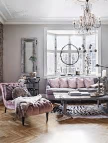Pink and Grey Shabby Chic Living Room Decor