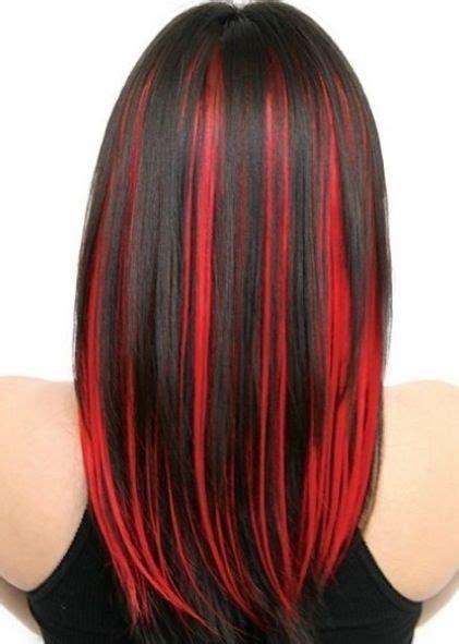 Red And Black Hair Color Hair Streaks Red Hair Streaks