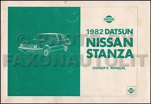 1982 Datsun  Nissan Stanza Repair Shop Manual Supplement