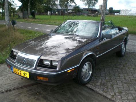 chrysler le baron cabrio chrysler le baron cabrio 2 2 turbo 1988 catawiki